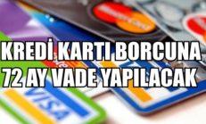 Kredi Kartı Borçlarına 72 Ay Vade Yapılacak
