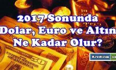 2017 Sonunda Dolar, Euro ve Altın Fiyatlarındaki Beklenti
