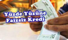 Üreticilere Faizsiz Kredi
