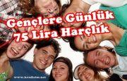18-29 Yaşlarındaki Gençlere Günlük 75 Lira Harçlık