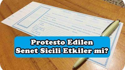 Protesto Edilen Senet Sicili Etkiler mi?