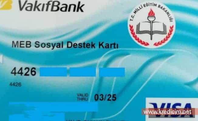 Vakıfbank Bursluluk Kartı