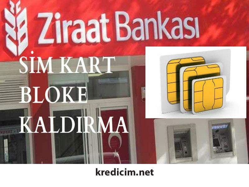 Ziraat Bankası SİM Kart Blokesi Kaldırma